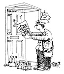 (A milkman tries to read a note written in arabic)