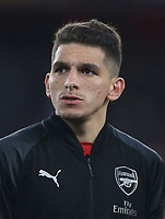 Arsenal's Lucas Torreira<br /> <br /> Photographer Rob Newell/CameraSport<br /> <br /> UEFA Europa League First Leg - Arsenal v Napoli - Thursday 11th April 2019 - The Emirates - London<br />  <br /> World Copyright © 2018 CameraSport. All rights reserved. 43 Linden Ave. Countesthorpe. Leicester. England. LE8 5PG - Tel: +44 (0) 116 277 4147 - admin@camerasport.com - www.camerasport.com