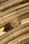 A detail on the facade of the Church of the Heavenly Rest on Fifth Avenue in New York City.