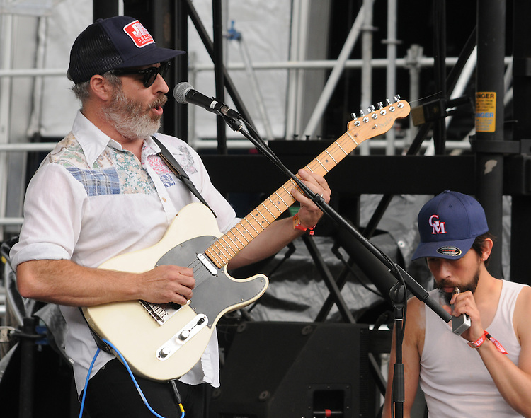 Photos of  Greg Loiacono (vocal and guitar), and Jackie Greene (keyboards) of The Mother Hips, performing at the Mountain Jam Music Festival of 2015, in Hunter, NY on Friday June 5, 2015. Photo by Jim Peppler. Copyright Jim Peppler 2015.