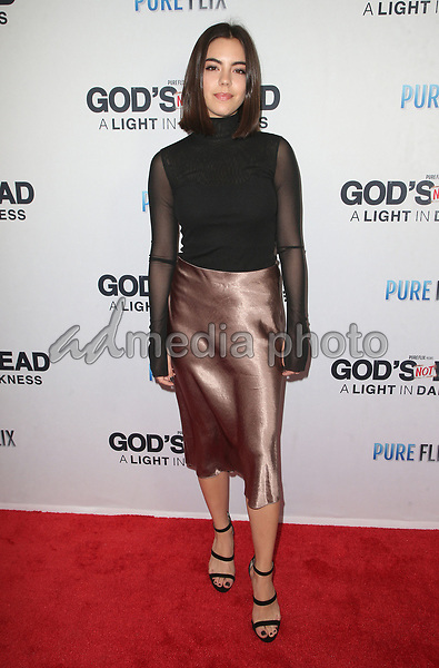 "20 March 2018 - Hollywood, California - Samantha Boscarino. ""God's Not Dead: A Light In Darkness"" Premiere held at American Cinematheque Egyptian Theatre. Photo Credit: F. Sadou/AdMedia"