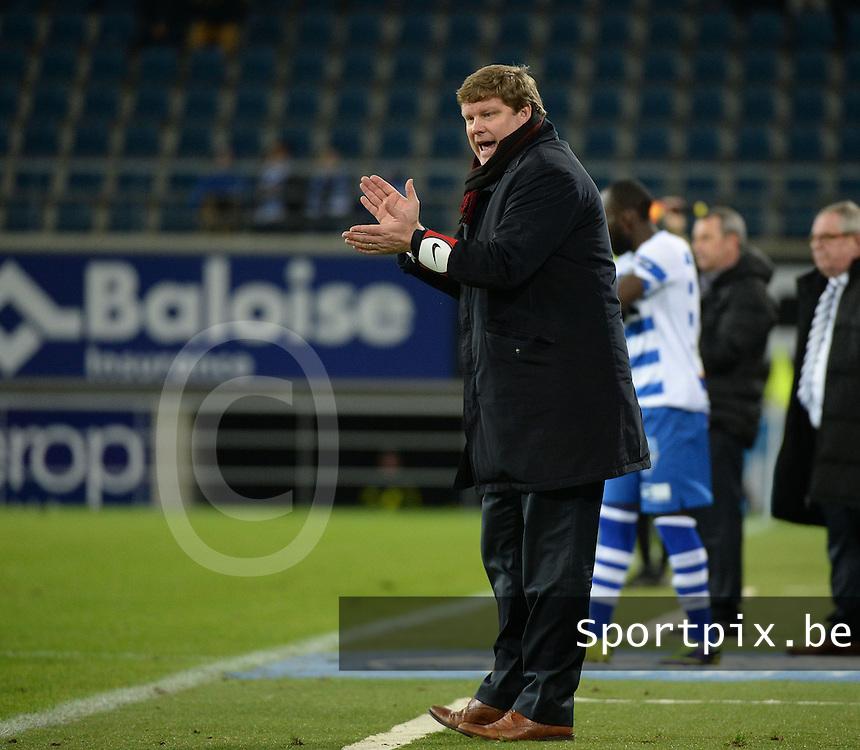 AA Gent - KV Kortrijk : Kortrijk coach Hein Vanhaezebrouck <br /> foto VDB / Bart Vandenbroucke