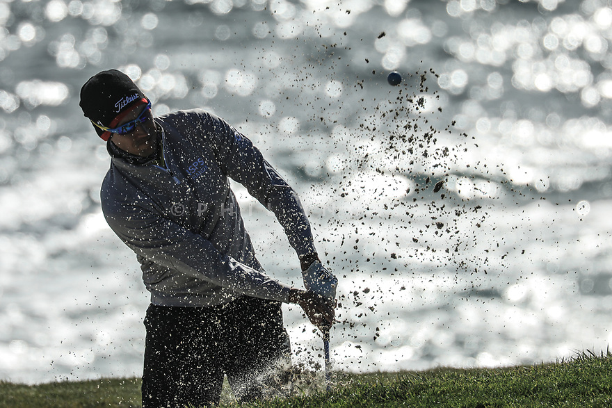 Rafa Cabrera Bello (ESP) during the final round of the AT&T Pro-Am ,Pebble Beach Golf Links, Monterey, USA. 10/02/2019<br /> Picture: Golffile | Phil Inglis<br /> <br /> <br /> All photo usage must carry mandatory copyright credit (© Golffile | Phil Inglis)