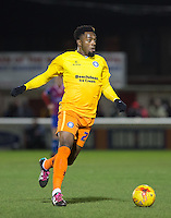 Gozie Ugwu of Wycombe Wanderers  in action during the Sky Bet League 2 match between Dagenham and Redbridge and Wycombe Wanderers at the London Borough of Barking and Dagenham Stadium, London, England on 9 February 2016. Photo by Andy Rowland.