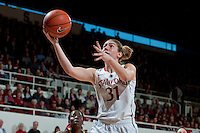 STANFORD, CA-JANUARY 28, 2011: Toni Kokenis makes two all alone during a 74-71 overtime win over the Cal Bears.