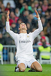 Real Madrid's Portuguese forward Cristiano Ronaldo during the Spanish league football match Real Madrid vs Celta de Vigo at the Santiago Bernabeu stadium in Madrid on december 6, 2014. Samuel de Roman / Photocall3000.