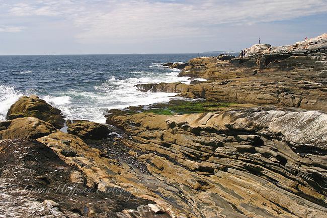 The rocky coast of Maine.