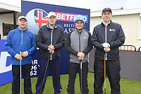 Eddie Pepperell (ENG) and team during the Hero Pro-am at the Betfred British Masters, Hillside Golf Club, Lancashire, England. 08/05/2019.<br /> Picture Fran Caffrey / Golffile.ie<br /> <br /> All photo usage must carry mandatory copyright credit (© Golffile | Fran Caffrey)