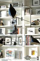White wall bookcase