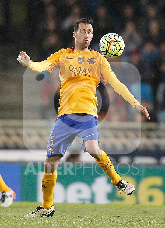 FC Barcelona's Sergio Busquets during La Liga match. April 9,2016. (ALTERPHOTOS/Acero)