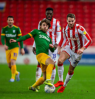 12th February 2020; Bet365 Stadium, Stoke, Staffordshire, England; English Championship Football, Stoke City versus Preston North End; Ben Pearson of Preston North End controls a loose ball