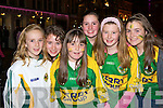 Hannah McAulliffe, Kara O'Connor, Niamh O'Sullivan, Kathryn Cronin, Tara Casey and Eimear O'Sullivan Killarney at the Kerry homecoming in Killarney Monday night..