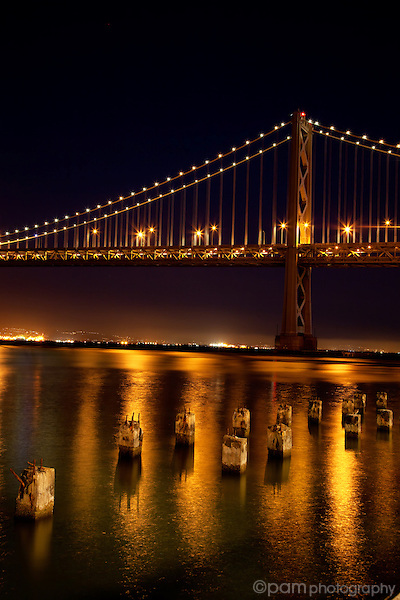 Night at the San Francisco Bay Bridge