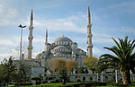 Sultan Ahmed Mosque, also known as the Blue Mosque, in Istanbul, Turkey.