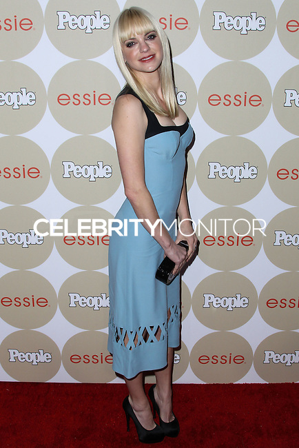"LOS ANGELES, CA - OCTOBER 09: Actress Anna Faris arrives at People's ""ONES To Watch"" Party held at Hinoki & The Bird on October 9, 2013 in Los Angeles, California. (Photo by Xavier Collin/Celebrity Monitor)"