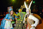 From left: Helping make the Alice in Wonderland theme come to life are Katie Harrison as Alice, David LaDuca as the caterpillar and Lisa Streck as the white rabbit at the Memorial Hermann Gala at the Hilton Americas Houston Saturday May 09,2009.(Dave Rossman/For the Chronicle)