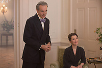 Phantom Thread (2017) <br /> Daniel Day-Lewis &amp; Lesley Manville  <br /> *Filmstill - Editorial Use Only*<br /> CAP/KFS<br /> Image supplied by Capital Pictures