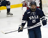 Chris Izmirlian (Yale - 25) - The Harvard University Crimson defeated the Yale University Bulldogs 6-4 in the opening game of their ECAC quarterfinal series on Friday, March 10, 2017, at Bright-Landry Hockey Center in Boston, Massachusetts.