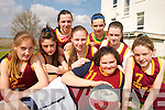 WINNING SMILES: The St. Josephs Basketball team from Abbeyfeale  that took part in the annual Dromclough National School Basketball Tournament in Listowel last weekend..Front. Nadine Smith..Back row L/r. Sorcha Mc Nulty, Laura Sheehan, Sile O'Callaghan, Georgina Browne, Aisling Mangan, Niamh Hartnett and Eibhlis Dillon.