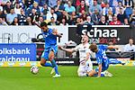 07.10.2018, wirsol Rhein-Neckar-Arena, Sinsheim, GER, 1 FBL, TSG 1899 Hoffenheim vs Eintracht Frankfurt, <br /> <br /> DFL REGULATIONS PROHIBIT ANY USE OF PHOTOGRAPHS AS IMAGE SEQUENCES AND/OR QUASI-VIDEO.<br /> <br /> im Bild: Ante Rebic (Eintracht Frankfurt #4) gegen Stefan Posch (TSG 1899 Hoffenheim #38) und Kevin Akpoguma (TSG Hoffenheim #25) im Strafraum<br /> <br /> Foto &copy; nordphoto / Fabisch