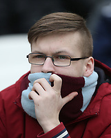 Burnley fan<br /> <br /> Photographer Rob Newell/CameraSport<br /> <br /> The Premier League - West Ham United v Burnley - Saturday 10th March 2018 - London Stadium - London<br /> <br /> World Copyright &not;&copy; 2018 CameraSport. All rights reserved. 43 Linden Ave. Countesthorpe. Leicester. England. LE8 5PG - Tel: +44 (0) 116 277 4147 - admin@camerasport.com - www.camerasport.com