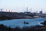 The Irving Saint John oil refinery. Saint John is the end for the proposed Energy East pipeline. However, most of the oil that would be shipped through the pipeline is slated for export and not for processing at the Saint John refinery. (Credit: Robert van Waarden - http://alongthepipeline.com)