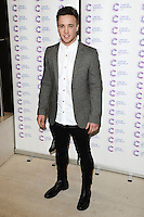 Sam Callahan arriving at James' Jog On To Cancer Event, Kensington Roof Gardens, London. 09/04/2014 Picture by: Alexandra Glen / Featureflash