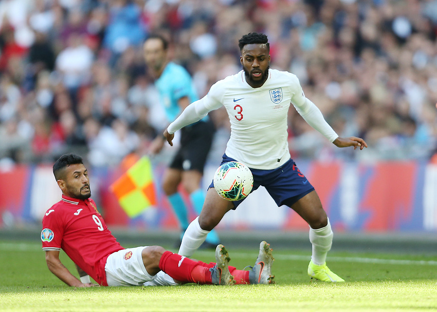 England's Danny Rose and Bulgaria's Wanderson<br /> <br /> Photographer Rob Newell/CameraSport<br /> <br /> UEFA European Championship Qualifying Group A - England v Bulgaria - Saturday 7th September 2019 - Wembley Stadium - London<br /> <br /> World Copyright © 2019 CameraSport. All rights reserved. 43 Linden Ave. Countesthorpe. Leicester. England. LE8 5PG - Tel: +44 (0) 116 277 4147 - admin@camerasport.com - www.camerasport.com
