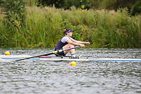 Race: 132  W.1x (Band 3)  Final<br /> <br /> Peterborough Summer Regatta 2018 - Sunday<br /> <br /> To purchase this photo, or to see pricing information for Prints and Downloads, click the blue 'Add to Cart' button at the top-right of the page.
