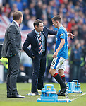 15.04.2018 Celtic v Rangers scottish cup SF:<br /> Andy Halliday subbed