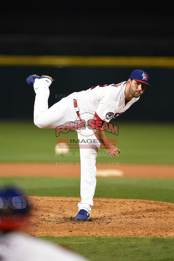 Buffalo Bisons pitcher John Stilson (52) delivers a pitch during a game against the Gwinnett Braves on May 13, 2014 at Coca-Cola Field in Buffalo, New  York.  Gwinnett defeated Buffalo 3-2.  (Mike Janes/Four Seam Images)
