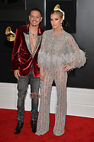 LOS ANGELES, CA - FEBRUARY 10: Evan Ross and Ashlee Simpson at the 61st Annual Grammy Awards at the Staples Center in Los Angeles, California on February 10, 2019. Credit: Faye Sadou/MediaPunch