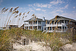 Beach houses, Wrightsville Beach, New Hanover County, NC, USA