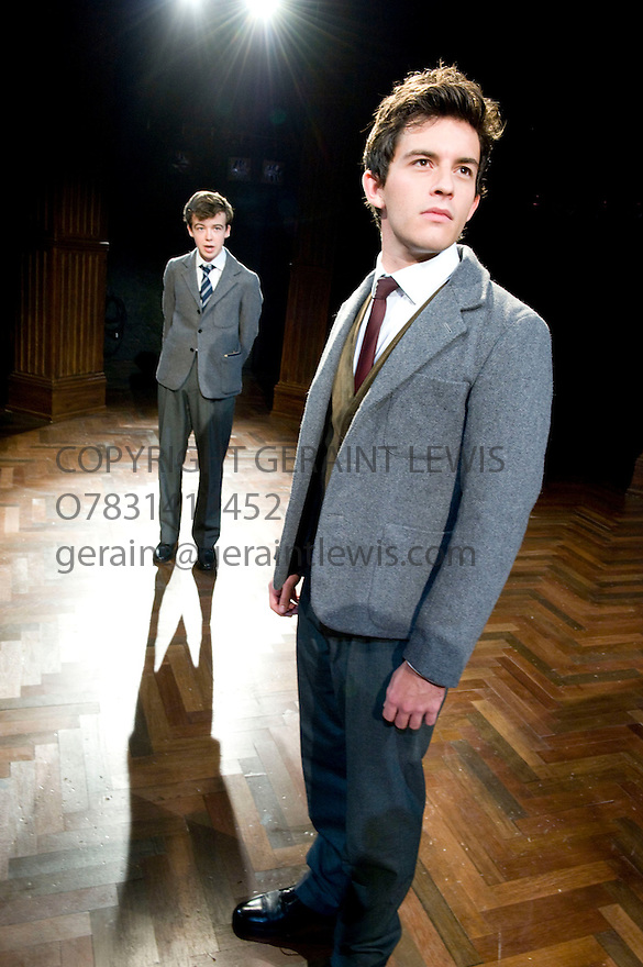 South Downs by David Hare. A world Premiere  directed by Jeremy Herrin. With Alex Lawther as John Blakemore, , Jonathan Bailey as Jeremy Duffield. Part of a Double Bill with The Browning Version .Opens  at  The Minerva Theatre in Chichester on 14/9/11 . CREDIT Geraint Lewis