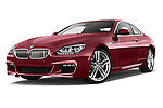 Stock pictures of low aggressive front three quarter view of 2016 BMW 6 Series 650i 3 Door Coupe Low Aggressive