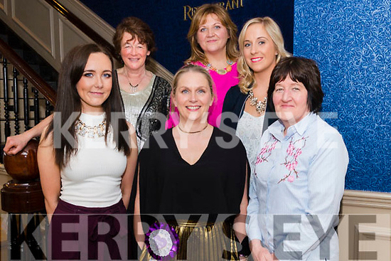Katie Brosnan from Castleisland celebrated her hen party with front Kiera Mc Kenna and Eilish Moynihan, back l-r Mary Galwey, Noreen Keane and Denise O'Connor in the Lord Kenmare restaurant, Killarney last Sunday evening.