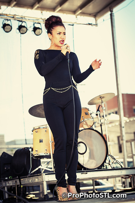 Pop singer Mai Lee performing at St. Louis Art Fair in Clayton, MO on Sept 9, 2012.