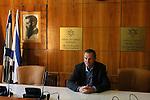 Ze'ev Bielski, Jewish Agency, at the convention room.<br /> November 2nd, 2006 (Photo by Ahikam Seri).