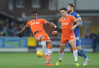 Blackpool's Armand Gnanduillet<br /> <br /> Photographer Kevin Barnes/CameraSport<br /> <br /> The EFL Sky Bet League One - AFC Wimbledon v Blackpool - Saturday 29th December 2018 - Kingsmeadow Stadium - London<br /> <br /> World Copyright &copy; 2018 CameraSport. All rights reserved. 43 Linden Ave. Countesthorpe. Leicester. England. LE8 5PG - Tel: +44 (0) 116 277 4147 - admin@camerasport.com - www.camerasport.com