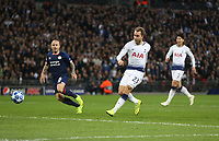 Tottenham Hotspur's Christian Eriksen with a first half chance<br /> <br /> Photographer Rob Newell/CameraSport<br /> <br /> UEFA Champions League -Group B - Tottenham Hotspur v PSV Eindhoven - Tuesday 6th November 2018 - Wembley Stadium - London<br />  <br /> World Copyright © 2018 CameraSport. All rights reserved. 43 Linden Ave. Countesthorpe. Leicester. England. LE8 5PG - Tel: +44 (0) 116 277 4147 - admin@camerasport.com - www.camerasport.com
