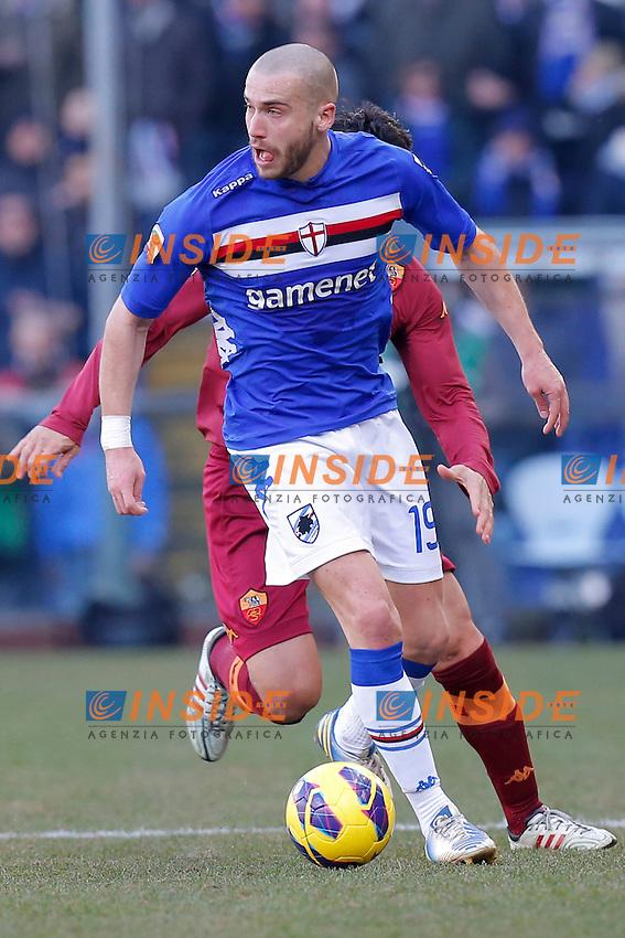 "Lorenzo De Silvestri Sampdoria, Genova 10/2/2013 .Stadio ""L.Ferraris"".Football Calcio 2012/2013 Serie A.Sampdoria Vs Roma.Foto Marco Bertorello Insidefoto"