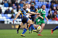 Chris Pennell of Worcester Warriors puts boot to ball. Aviva Premiership match, between London Irish and Worcester Warriors on February 7, 2016 at the Madejski Stadium in Reading, England. Photo by: Patrick Khachfe / JMP