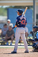 Minnesota Twins Ben Rodriguez (43) during a Minor League Spring Training game against the Tampa Bay Rays on March 17, 2018 at CenturyLink Sports Complex in Fort Myers, Florida.  (Mike Janes/Four Seam Images)