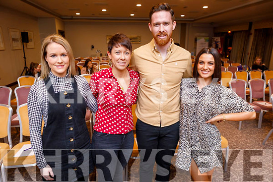 Attending the Kinetic Nutrition Tír na nÓg Orphanage Fundraiser in the Rose Hotel on Thursday night. <br /> L to r: Louise Quill (Tir na nÓg), Ann Marie Dillon (Kinetic Nutrition), Michael Dillon (Kinetic Health and Fitness) and Rebecca O'Rourke (Team ROR Online Coaching).