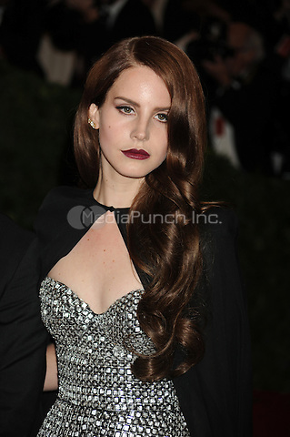 Lana Del Ray at the 'Schiaparelli And Prada: Impossible Conversations' Costume Institute Gala at the Metropolitan Museum of Art on May 7, 2012 in New York City.. Credit: Dennis Van Tine/MediaPunch