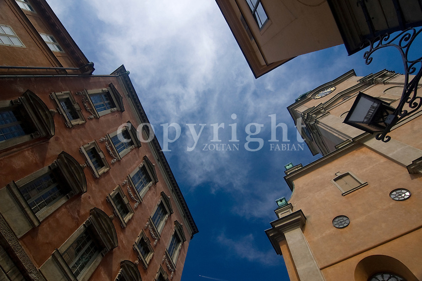 Detail of Stockholm's old town with the Storkyrkan church