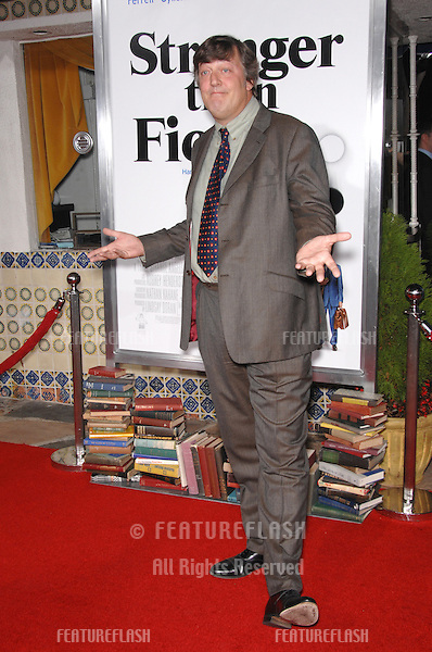 """STEPHEN FRY at the Los Angeles premiere of """"Stranger than Fiction""""..October 30, 2006  Los Angeles, CA.Picture: Paul Smith / Featureflash"""
