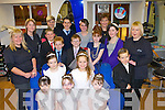 Killarney Hair studio staff with the models displaying the 20011 trendy hair styles for this years Holy and Communion and Confirmation's