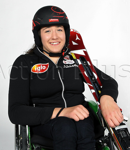 16.10.2010  Winter sports OSV Einkleidung Innsbruck Austria. Divers Ski Alpine Disabled Sports OSV Austrian Ski Federation. Picture shows Claudia Loesch AUT