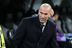 Zinedine Zidane coach  of Real Madrid  during the match of Spanish La Liga between Real Madrid and UD Las Palmas at  Santiago Bernabeu Stadium in Madrid, Spain. March 01, 2017. (ALTERPHOTOS / Rodrigo Jimenez)